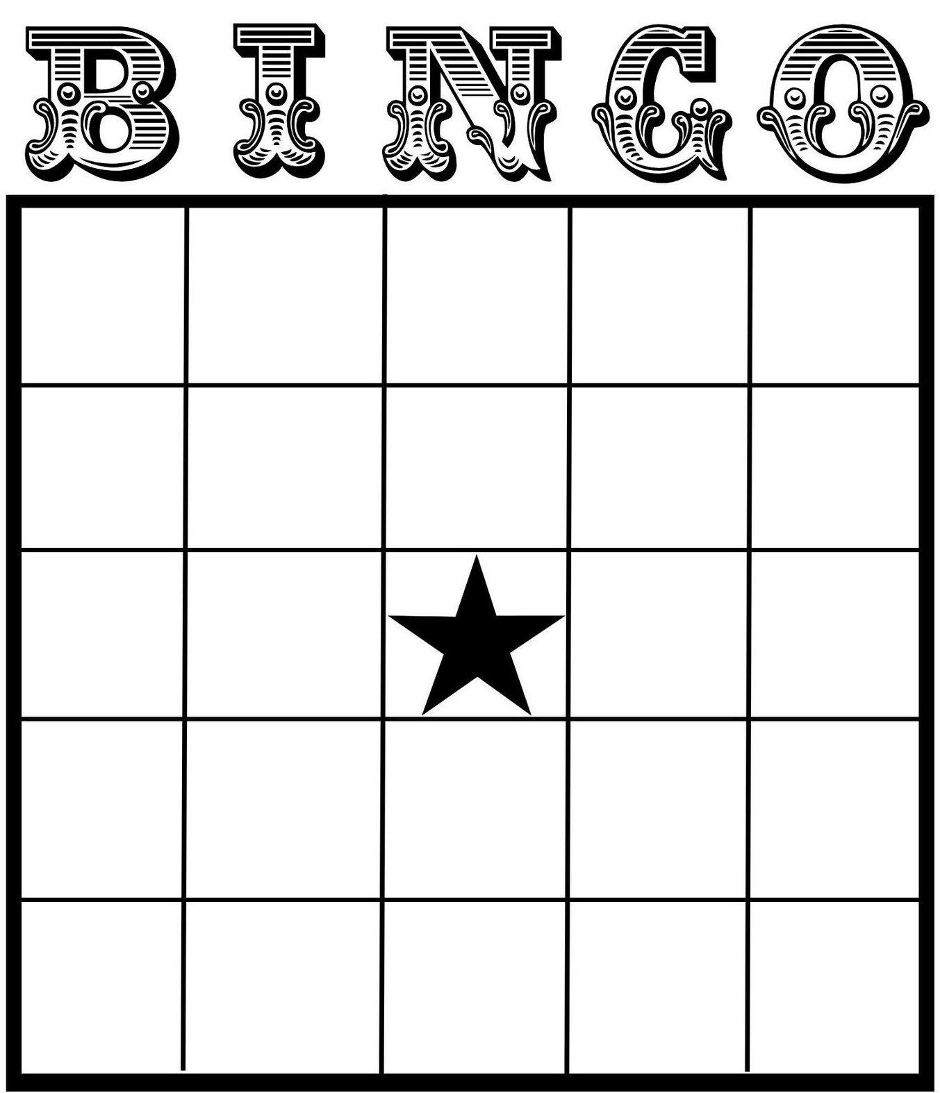 Free Printable Blank Bingo Cards  Printable Bingo Cards Inside Bingo Card Template Word