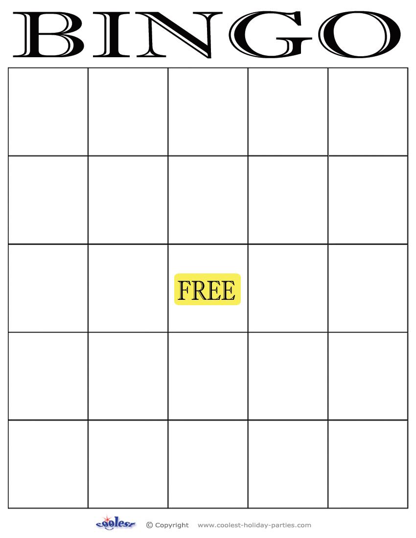 Printable Blank Bingo Cards 5x5 Printable Bingo Cards