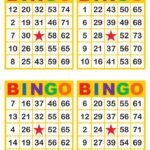 Bingo Cards 1000 Cards 4 Per Page Immediate Pdf
